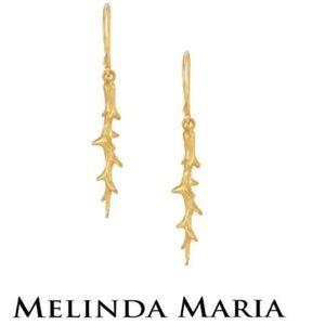 Melinda Maria Thorn Drop Earrings NWOT